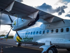 air antilles express atr plane to guadeloupe