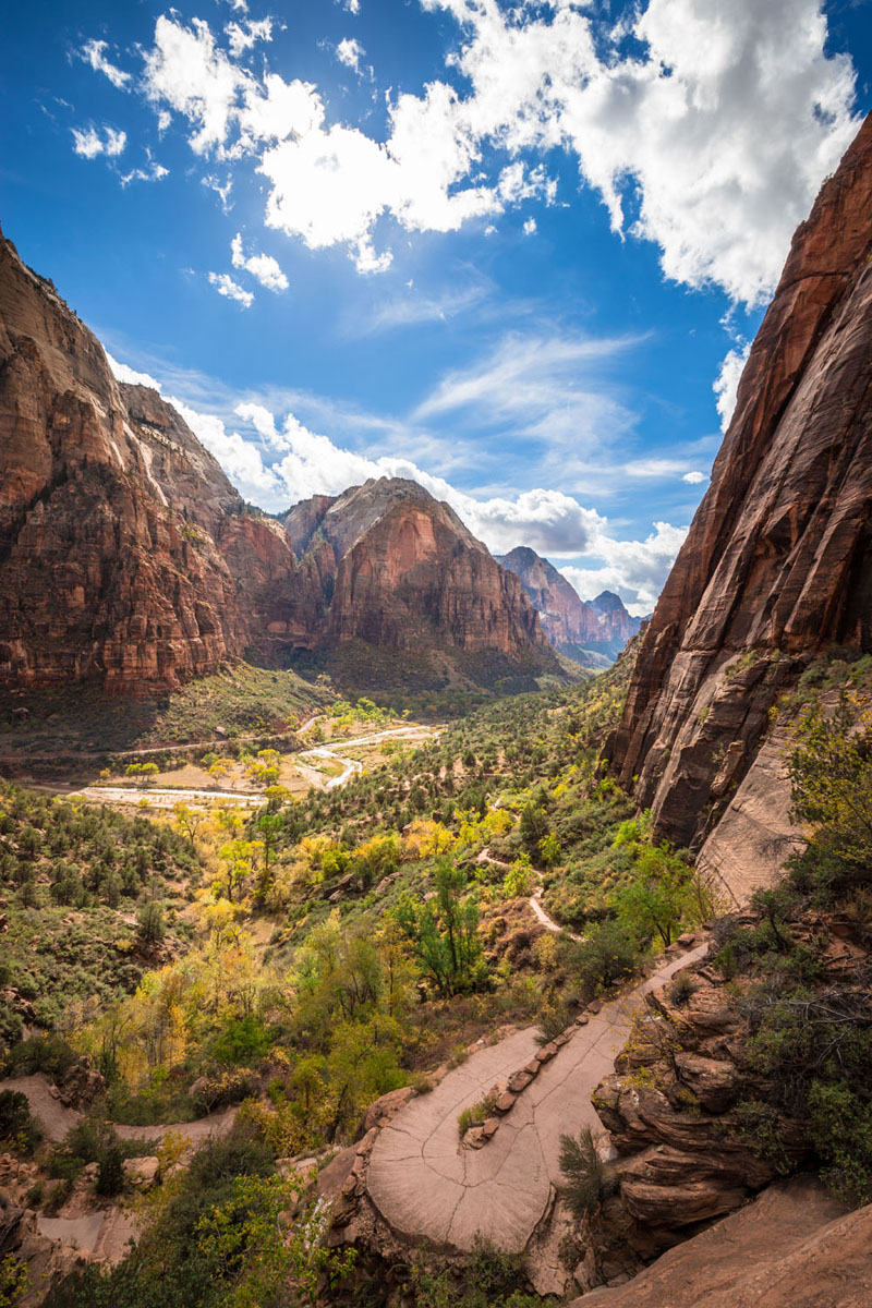 angels landing slopes
