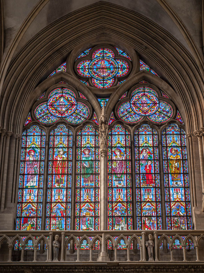 bayeux cathedral church window