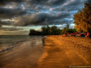 beach-hanalai-bay-kauai-hawaii-sunset-hdr