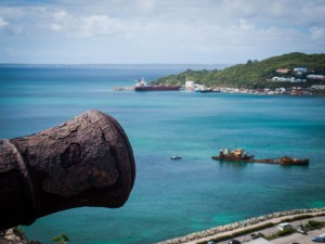 a cannon in the caribbean like in pirate days