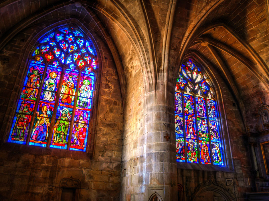 church windows in france photograph