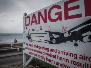 famous danger sign beware of jet blast
