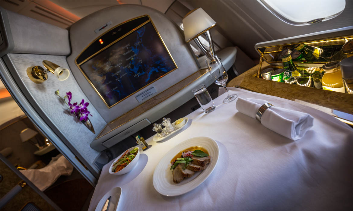Emirates a380 first class suite travel photographs - Emirates camera ...
