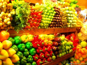 Fresh fruit offered at chatuchak weekend market in bangkok