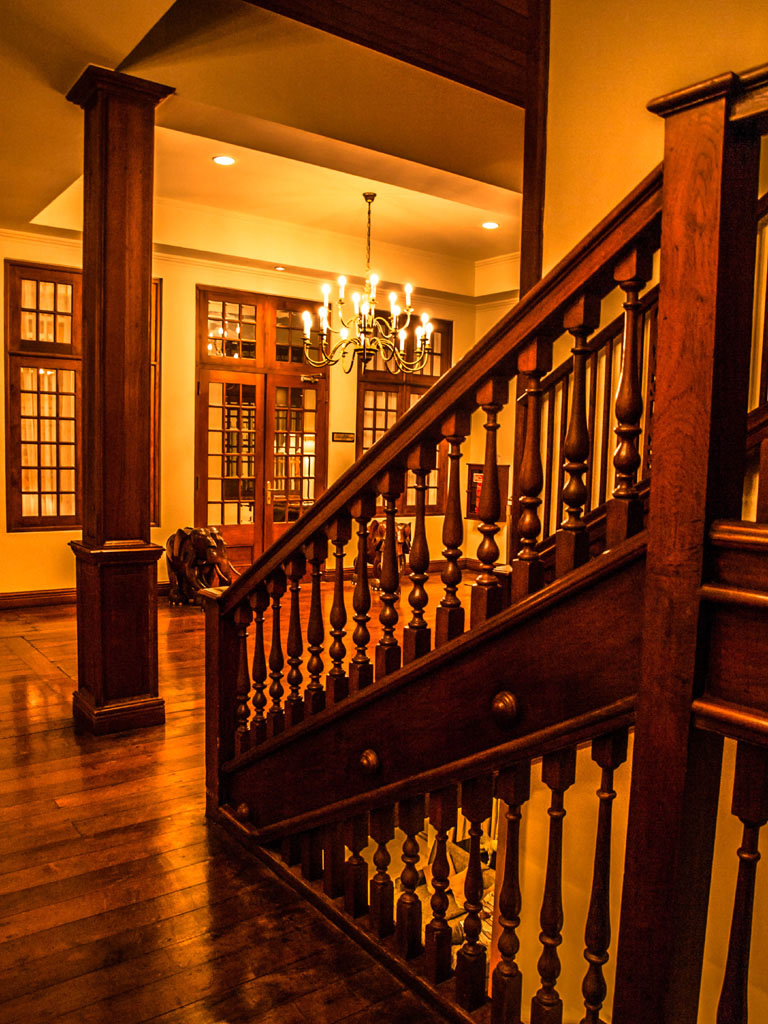 colonial stairway at galle face hotel colombo