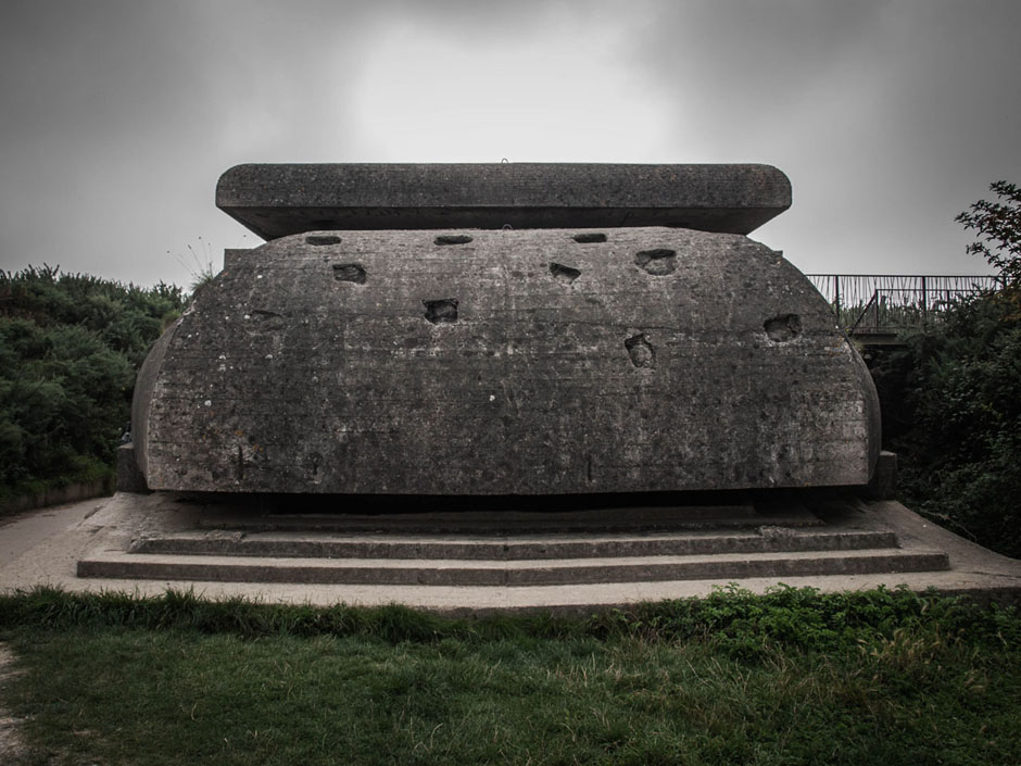 german bunker normandy photograph
