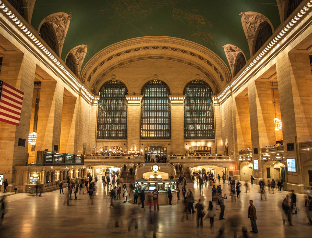 grand central station long exposure photograph