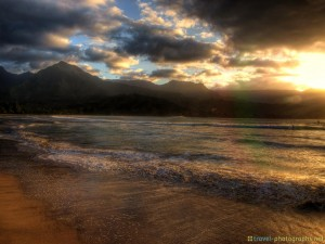 hdr-beach-hanalai-bay-kauai-hawaii-sunset