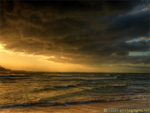 hdr-sunset-beach-hanalai-bay-kauai-hawaii