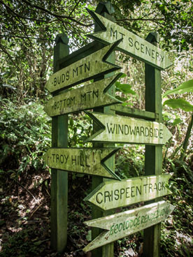 Hiking Trails on Saba signs