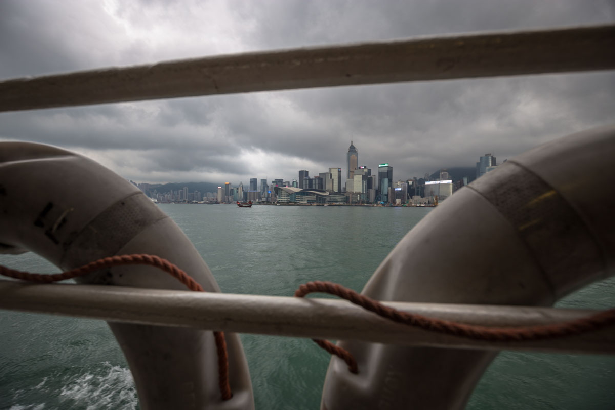 hong kong ferry view