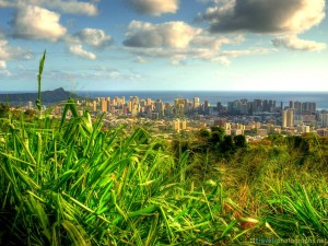 honolulu-mountain-hdr-city