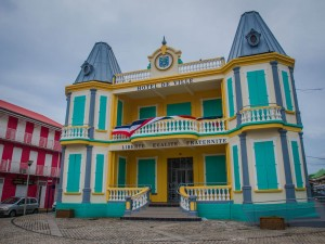 hotel de ville guadeloupe colorful building