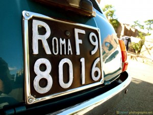 license-plate-fiat-rome-italy