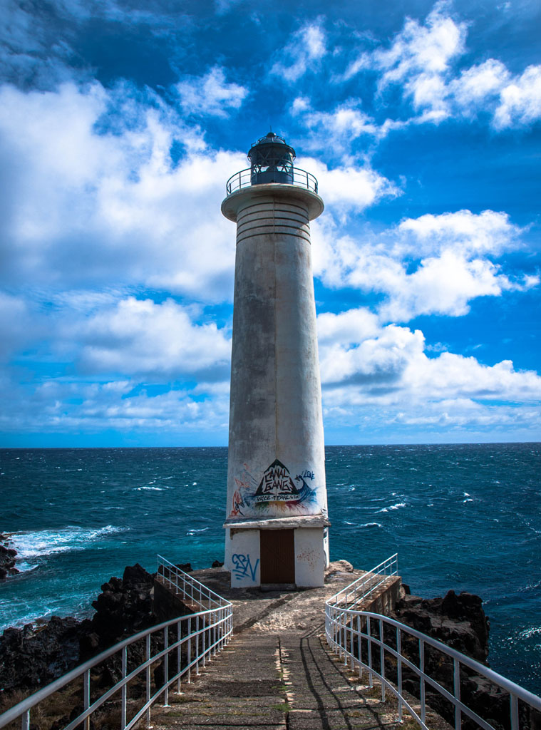 lighthouse at fort vieux at basseterre in guadeloupe
