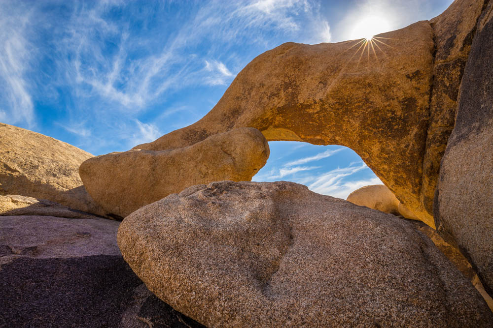 natural arch joshua tree