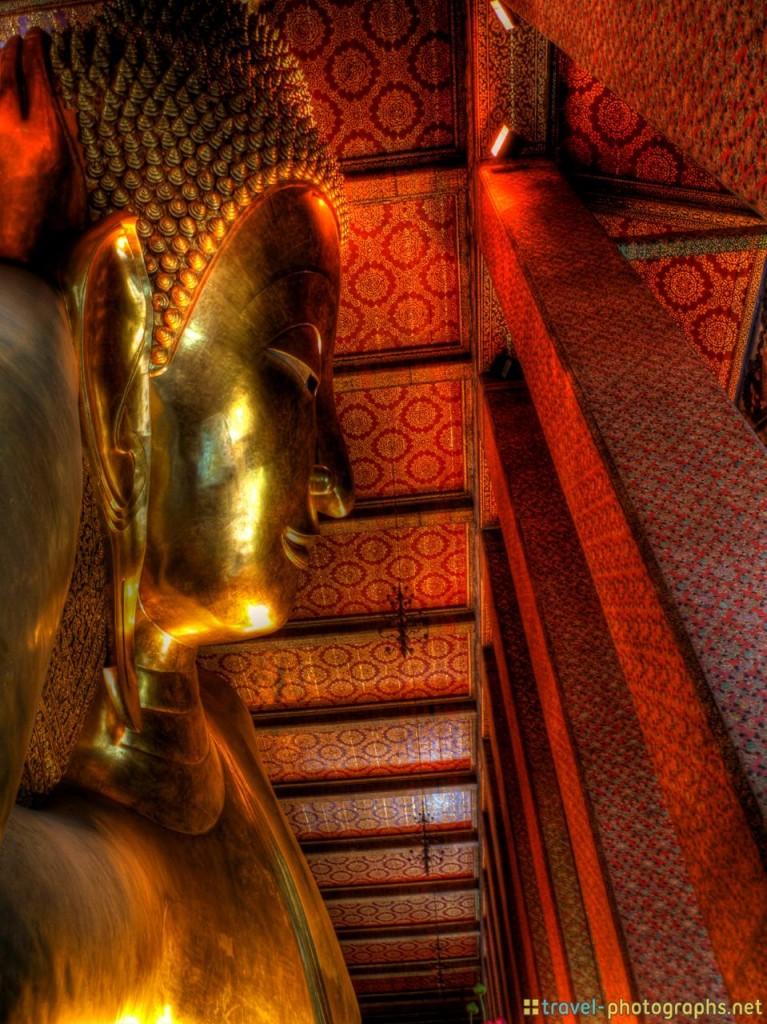 bangkok reclining buddha hdr photograph