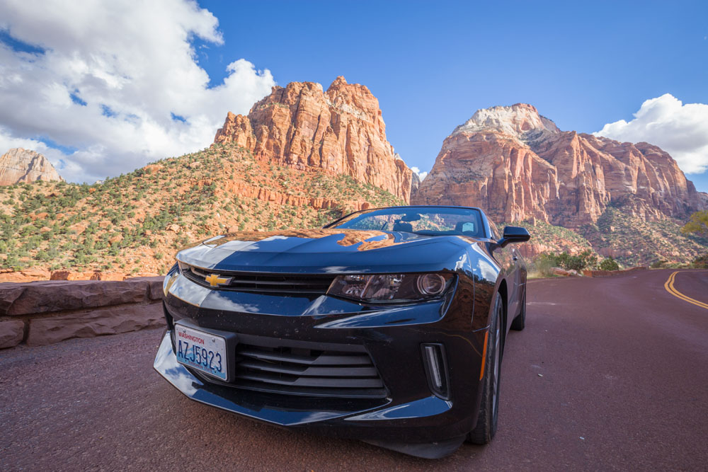 rental car zion national park