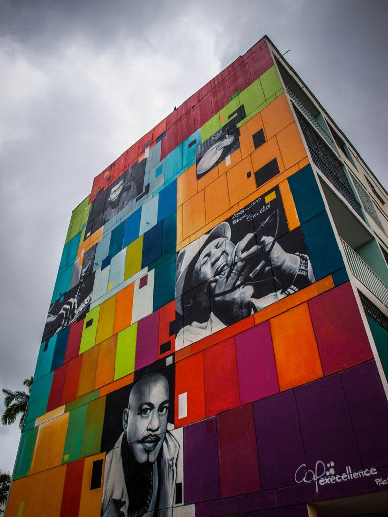 colorful street art graffiti building point a pitre