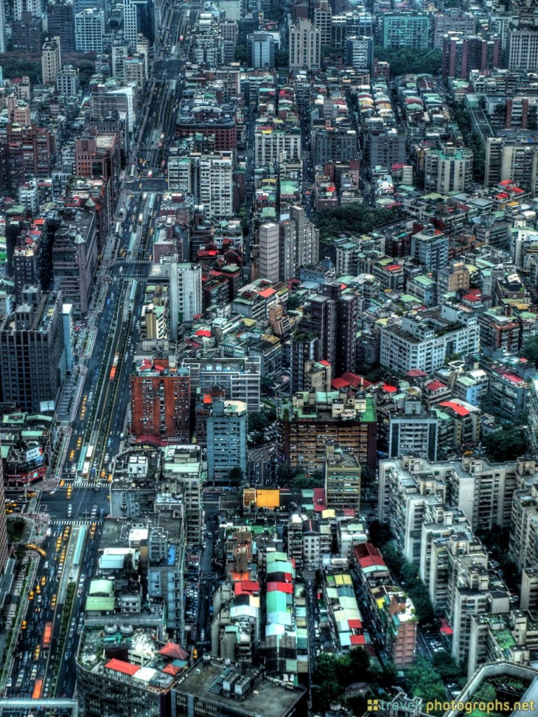 hdr image of taiwan city