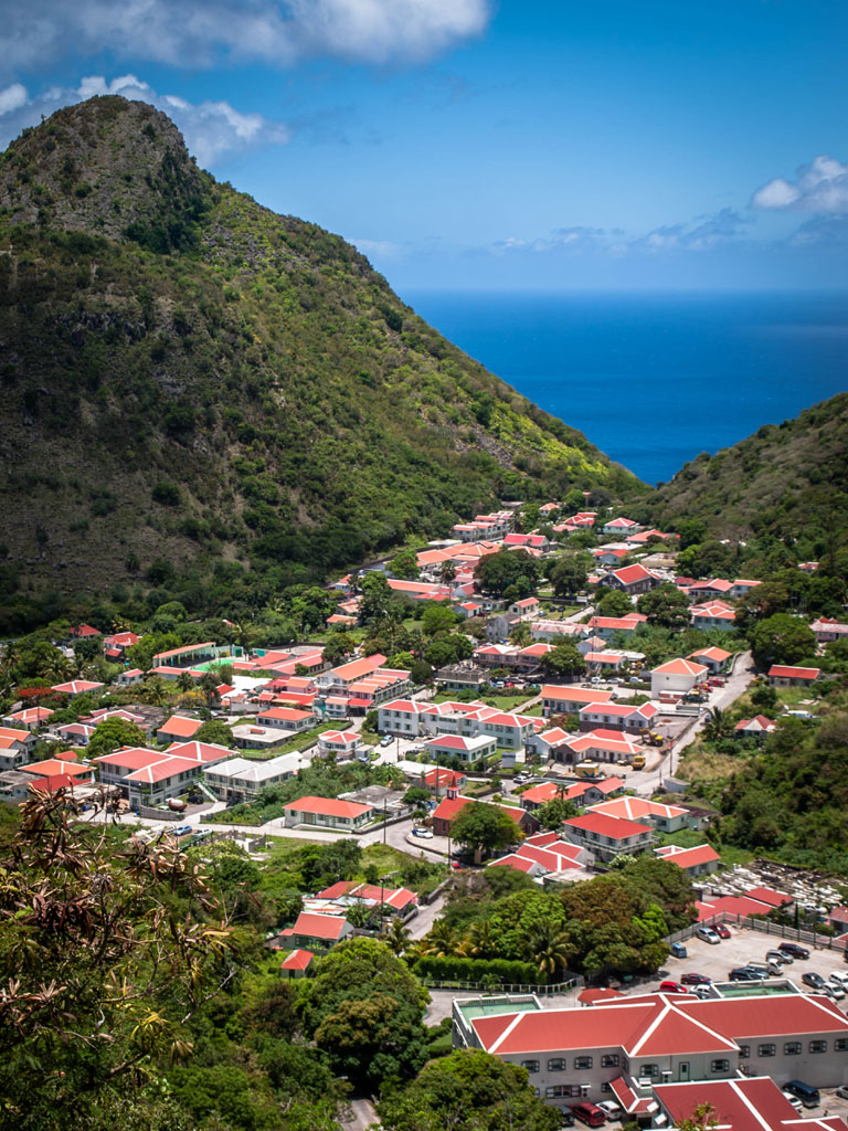 The Bottom at saba island in the caribbean