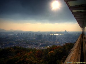 hdr view from namsan park seoul